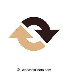 Refresh Icon vector brown color