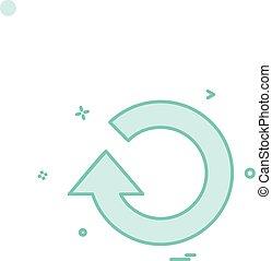 refresh icon vector design