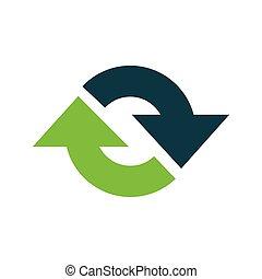 Refresh Icon vector green