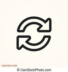 Refresh icon vector sign symbol for design