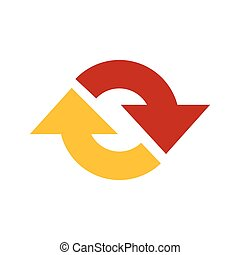 Refresh Icon  vector yellow and red color