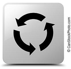 Refresh icon white square button