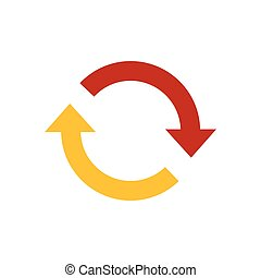 Refresh Icon yellow and red color