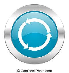 refresh internet blue icon