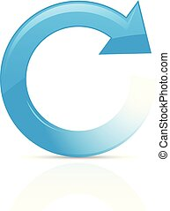 Refresh or reload symbol - blue circular arrow