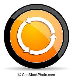 refresh orange icon