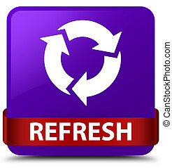 Refresh purple square button red ribbon in middle