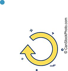 refresh reload icon vector design