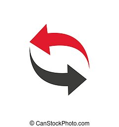 Refresh, Reload Isolated Flat Web Mobile Icon Vector Sign Symbol Button Element Silhouette