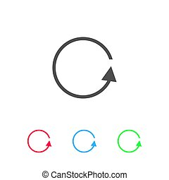 Refresh reload rotation loop icon flat.