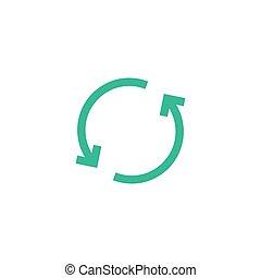 Refresh repeat icon vector arrow. Reload reset symbol circle loop