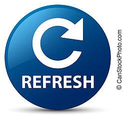 Refresh (rotate arrow icon) blue round button