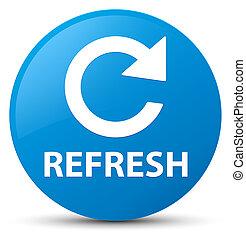 Refresh (rotate arrow icon) cyan blue round button
