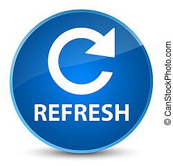 Refresh (rotate arrow icon) elegant blue round button