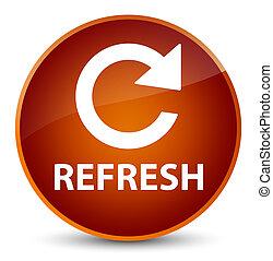 Refresh (rotate arrow icon) elegant brown round button