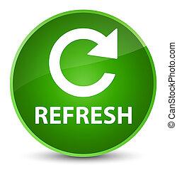 Refresh (rotate arrow icon) elegant green round button