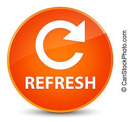 Refresh (rotate arrow icon) elegant orange round button