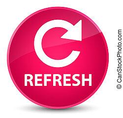 Refresh (rotate arrow icon) elegant pink round button