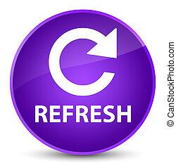 Refresh (rotate arrow icon) elegant purple round button