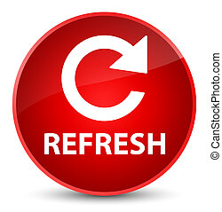 Refresh (rotate arrow icon) elegant red round button