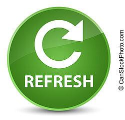 Refresh (rotate arrow icon) elegant soft green round button