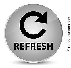 Refresh (rotate arrow icon) elegant white round button
