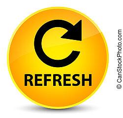 Refresh (rotate arrow icon) elegant yellow round button