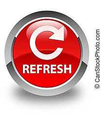 Refresh (rotate arrow icon) glossy red round button