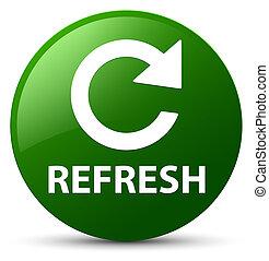 Refresh (rotate arrow icon) green round button