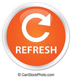 Refresh (rotate arrow icon) premium orange round button