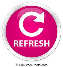 Refresh (rotate arrow icon) premium pink round button