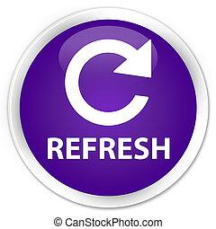 Refresh (rotate arrow icon) premium purple round button