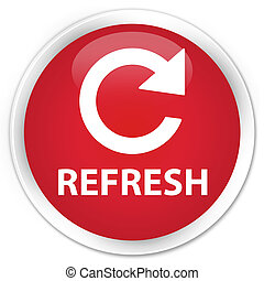 Refresh (rotate arrow icon) premium red round button
