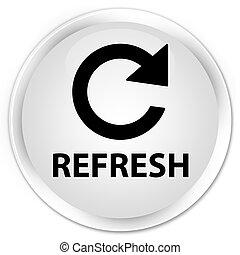 Refresh (rotate arrow icon) premium white round button
