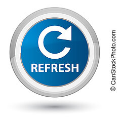 Refresh (rotate arrow icon) prime blue round button