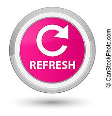 Refresh (rotate arrow icon) prime pink round button
