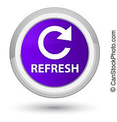 Refresh (rotate arrow icon) prime purple round button