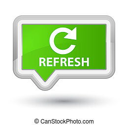 Refresh (rotate arrow icon) prime soft green banner button