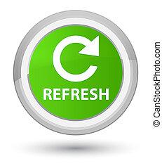 Refresh (rotate arrow icon) prime soft green round button