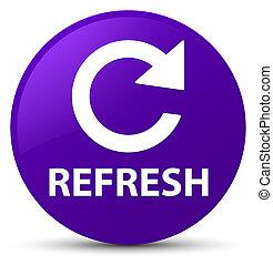 Refresh (rotate arrow icon) purple round button