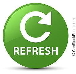 Refresh (rotate arrow icon) soft green round button