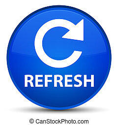 Refresh (rotate arrow icon) special blue round button
