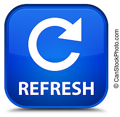 Refresh (rotate arrow icon) special blue square button