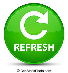 Refresh (rotate arrow icon) special green round button