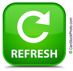 Refresh (rotate arrow icon) special green square button