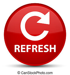Refresh (rotate arrow icon) special red round button