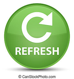 Refresh (rotate arrow icon) special soft green round button