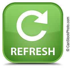 Refresh (rotate arrow icon) special soft green square button