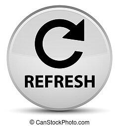 Refresh (rotate arrow icon) special white round button