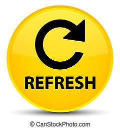 Refresh (rotate arrow icon) special yellow round button